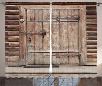 Timber Rustic Gate Door in Wall of Old Log House Art Print ...