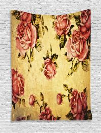 Victorian Style Rose Pattern Vintage Art Floral Home Decor ...