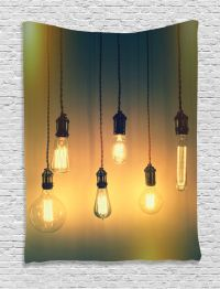Illuminated Retro Light Bulbs Image Modern Rustic Decor ...