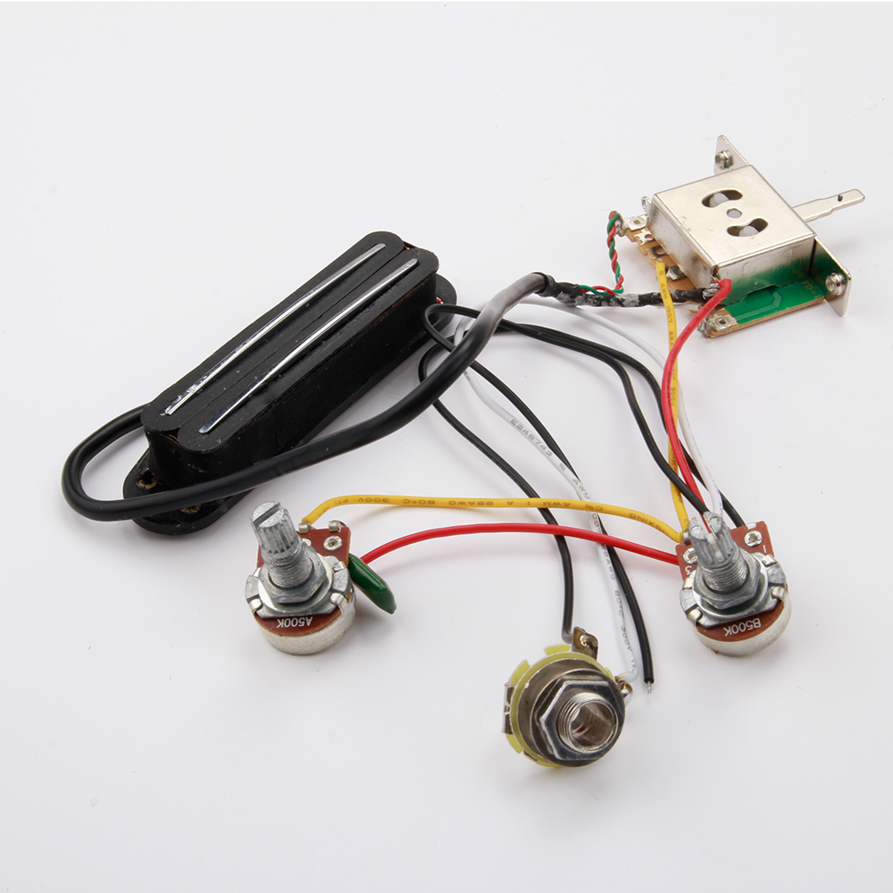 one pickup guitar wiring harness