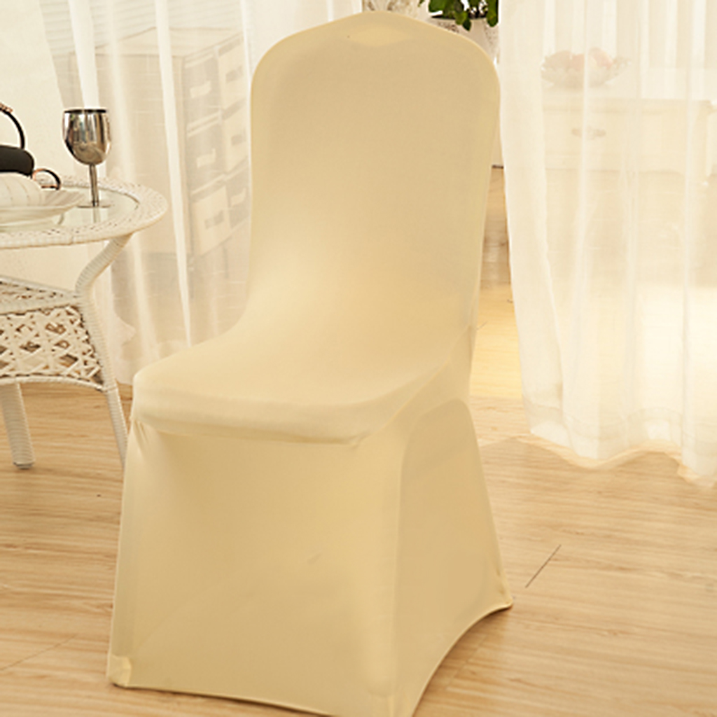 elastic chair covers for weddings white with black sash banquet party decor seat cover stretch spandex
