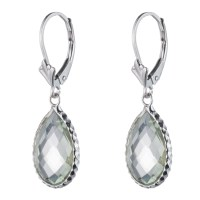 Sterling Silver Colored Stone Earring, Lever Back Closure ...