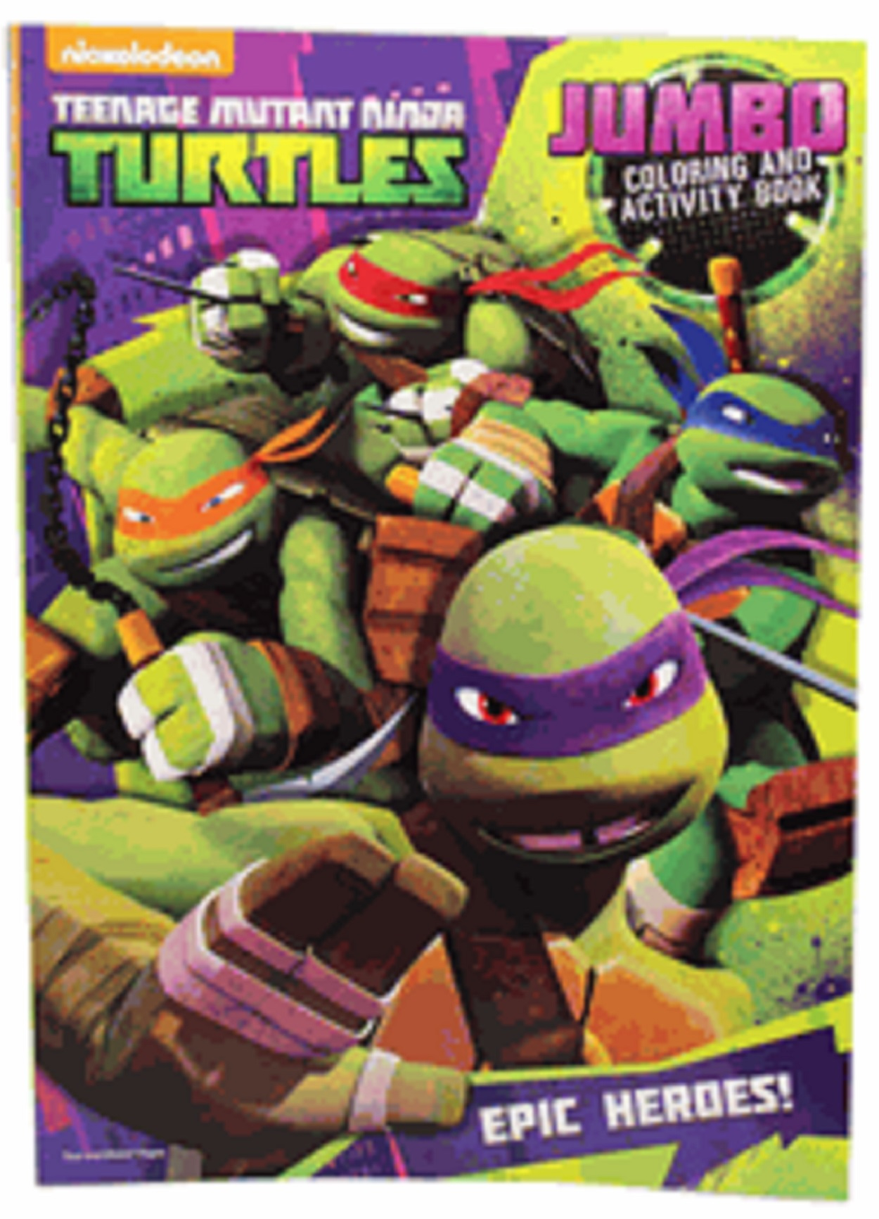 Teenage Mutant Ninja Turtles 96 Pg Coloring And Activity Book