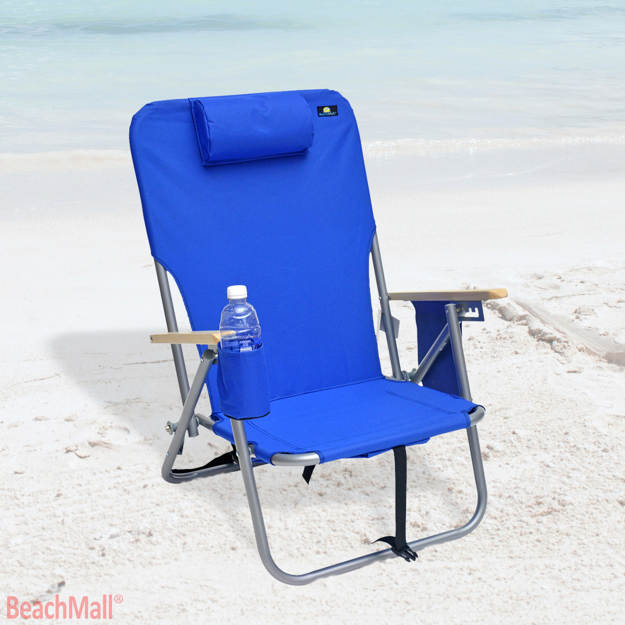backpack beach chair target midcentury rocking deluxe 4 position steel with drink holder