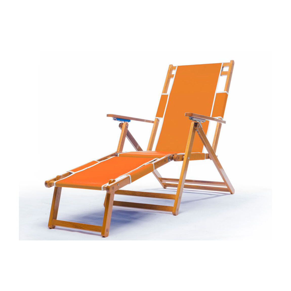 Heavy Duty Commercial Grade Oak Wood Beach Chair  Chaise