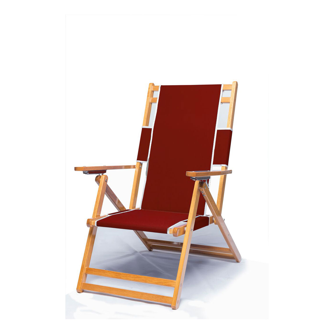 Beach Lounger Chair Heavy Duty Commercial Grade Oak Wood Beach Chair Chaise
