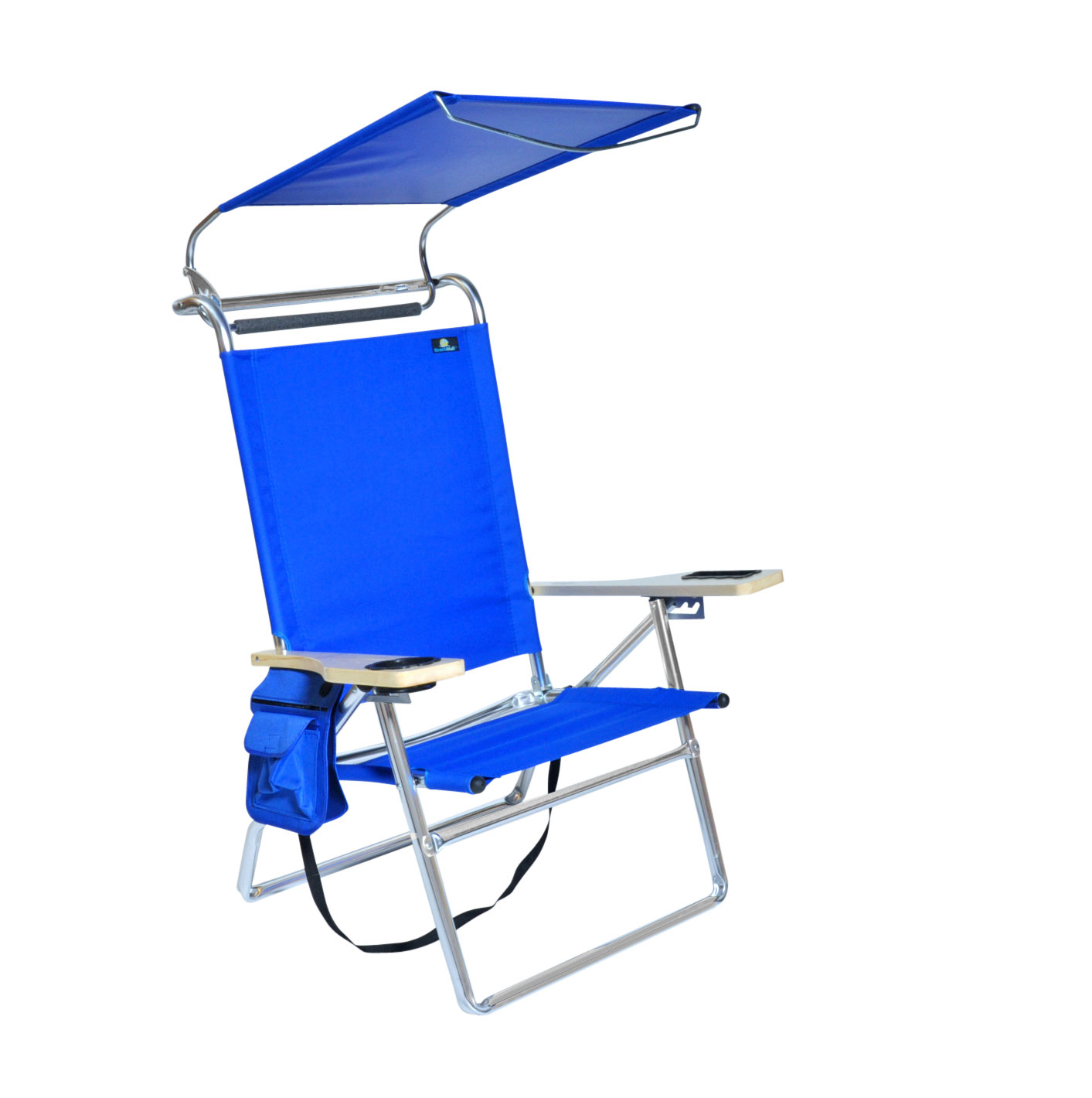 Deluxe 4 position Aluminum Beach Chair w Canopy  Storage