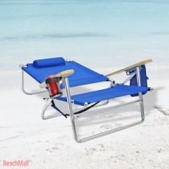 Lay Flat Beach Chair Bertoia Diamond Cover Replacement 5 Position Heavy Duty 300 Lbs Camping