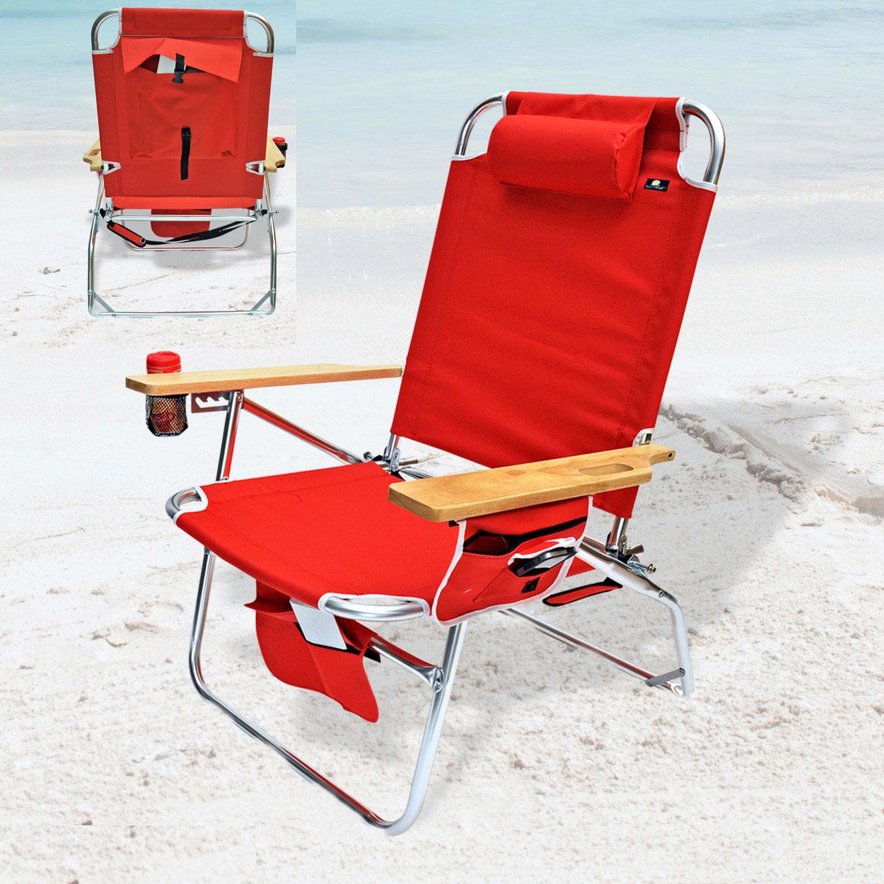 Big Jumbo Heavy Duty 500 lbs XL Aluminum Beach Chair for