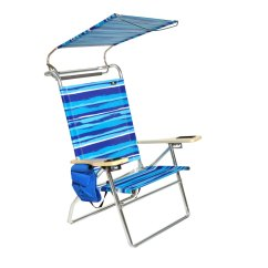 Hi Boy Beach Chair With Canopy The Best Office Deluxe 4 Position Aluminum W And Storage