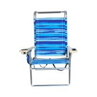 Deluxe 4 position Aluminum Beach Chair w/ Canopy & Storage ...