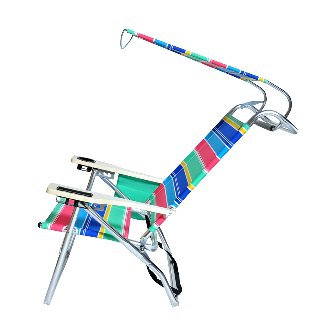 hi boy beach chair with canopy wedding sashes deluxe 4 position aluminum w/ & storage pouch | ebay