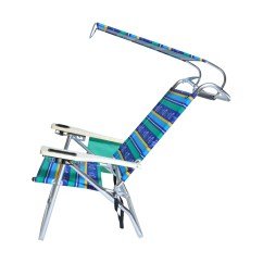 Hi Boy Beach Chair With Canopy Hammock Indoor Deluxe 4 Position Aluminum W And Storage