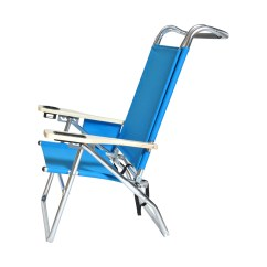 Hi Boy Beach Chair With Canopy Revolving Without Arms Price Deluxe 4 Position Aluminum W And Storage