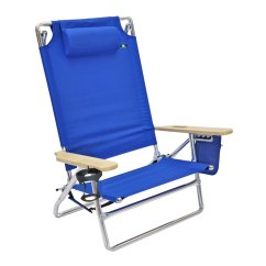 Best Big And Tall Beach Chair Blue Dining Cushions 5 Position Heavy Duty 300 Lbs Lay Flat Camping