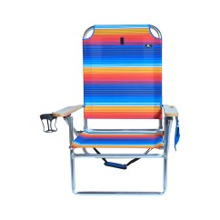 Beach Chairs With Cup Holders Dining Room Chair Covers For Sale Ireland Extra Large High Seat Heavy Duty 4 Position