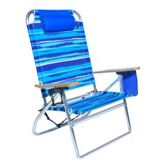 Hi Boy Beach Chair With Canopy Wing Back Cover Extra Large High Seat Heavy Duty 4 Position