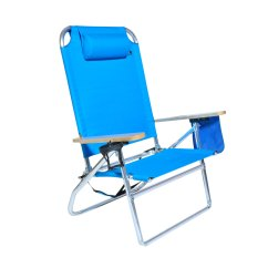 Beach Chairs With Cup Holders Chair Covers Groupon Extra Large High Seat Heavy Duty 4 Position
