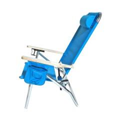 Hi Boy Beach Chair With Canopy Acrylic Legs Extra Large High Seat Heavy Duty 4 Position