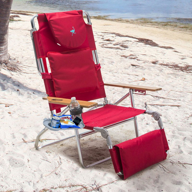 Padded Ostrich 3 N 1 Beach Chair Lounger with Side Tray  eBay