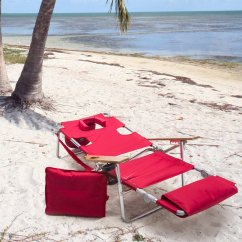 Padded Beach Chair Desk Parts Ostrich 3 N 1 Lounger With Side Tray Ebay