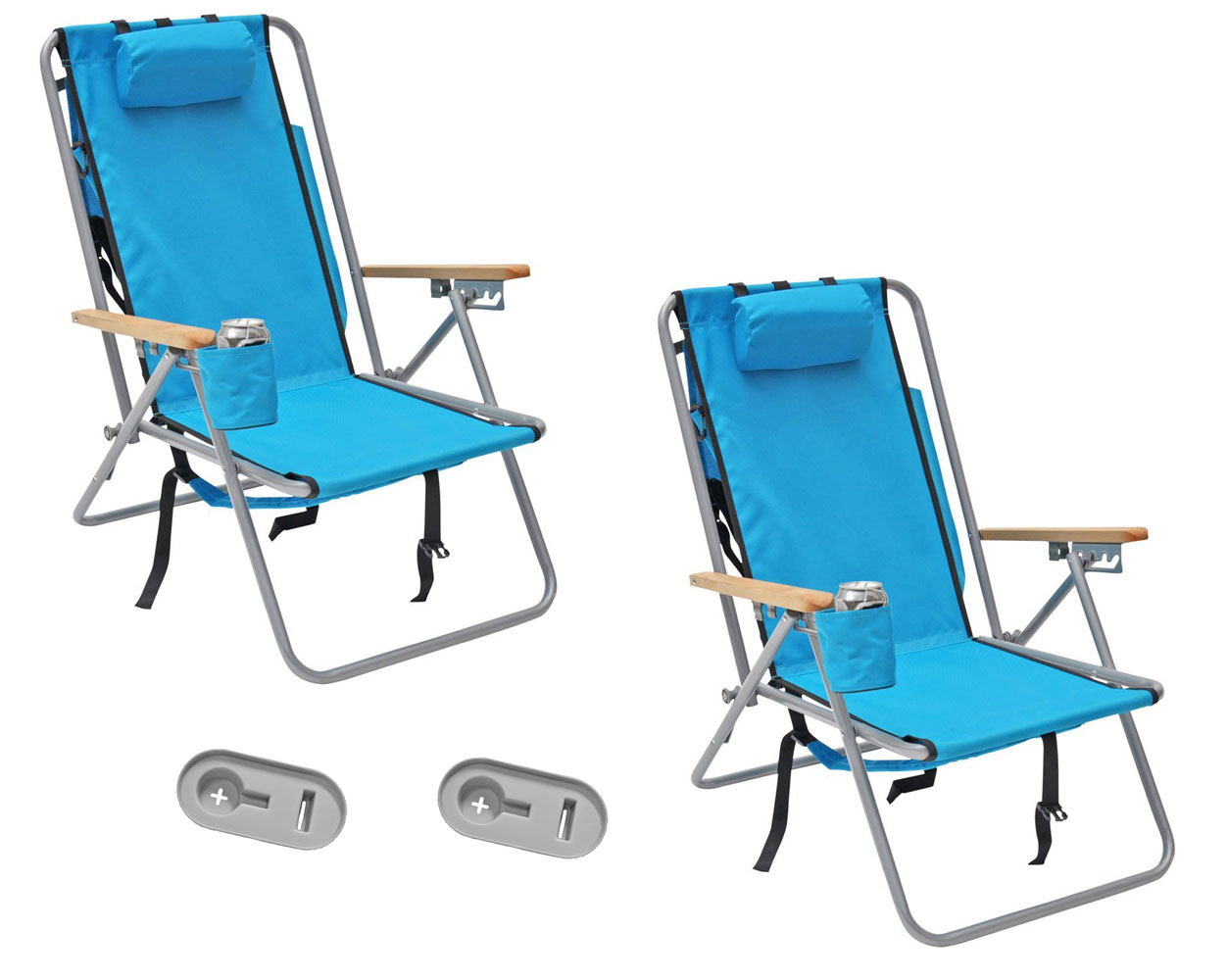 Deluxe Camping Chairs Deluxe Steel Rio Backpack Beach Camping Chair With Side