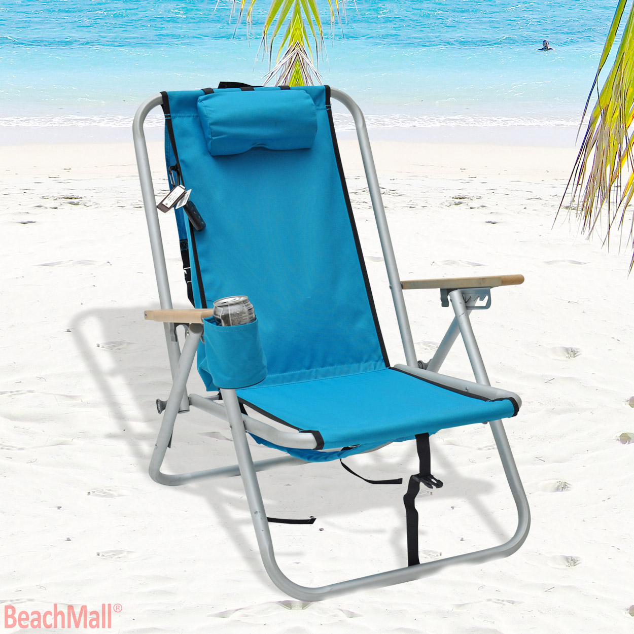 Beach Chair Backpack Deluxe Wearever Rio Aluminum Backpack Chair With Large