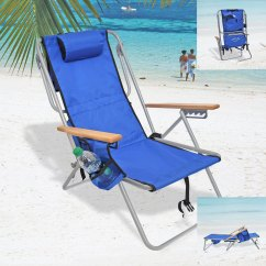 Backpack Cooler Beach Chair Log Rocking Chairs Rio Deluxe 5 Position Layflat W Insulated