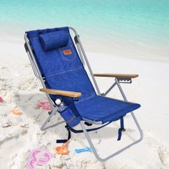Backpack Cooler Beach Chair Blue Office Chairs Rio Deluxe 5 Position Layflat W Insulated