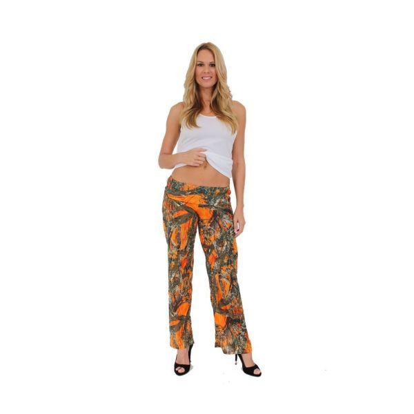 Women' Juniors Orange True Timber Camouflage Folding