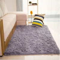 Fluffy Rugs Anti-Skid Shaggy Area Rug Home Living Room ...