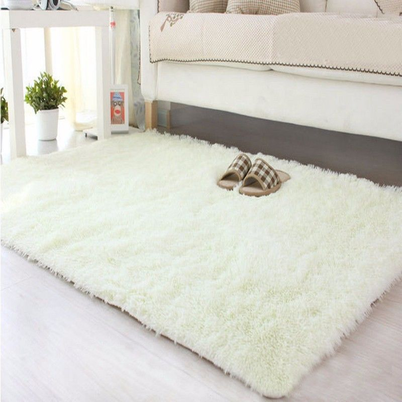 shaggy fluffy rugs anti-skid area rug dining room carpet home