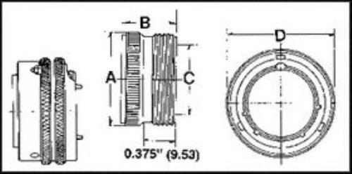 Amphenol Industrial Pt06A10-6P Circular Connector Plug
