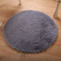 Hot Round Fluffy Rug Anti-Skid Shaggy Dining Room Home ...