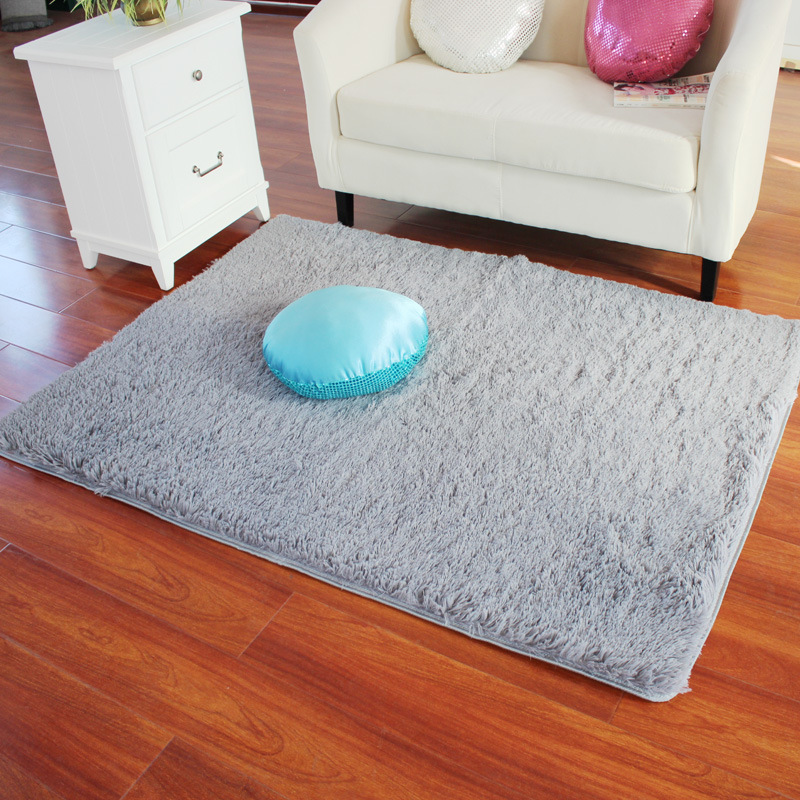 Rectangle Soft Fluffy Rug AntiSkid Shaggy Study Room Bedroom Carpet Floor Mat  eBay