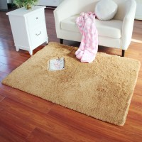 Rectangle Soft Fluffy Rug Anti-Skid Shaggy Study Room ...