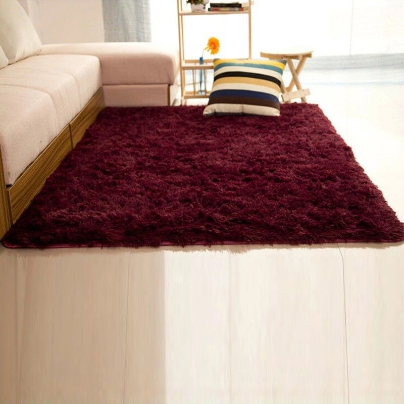 Shaggy Fluffy Rugs AntiSkid Area Rug Dining Room Carpet Bedroom Floor Mat USPS