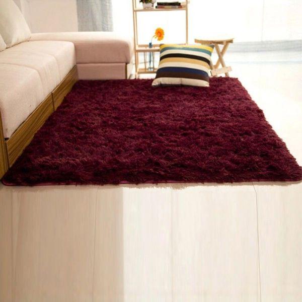 fluffy bedroom rugs Shaggy Fluffy Rugs Anti-Skid Area Rug Dining Room Carpet