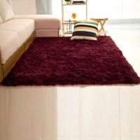 Shaggy Fluffy Rugs Anti-Skid Area Rug Dining Room Carpet ...