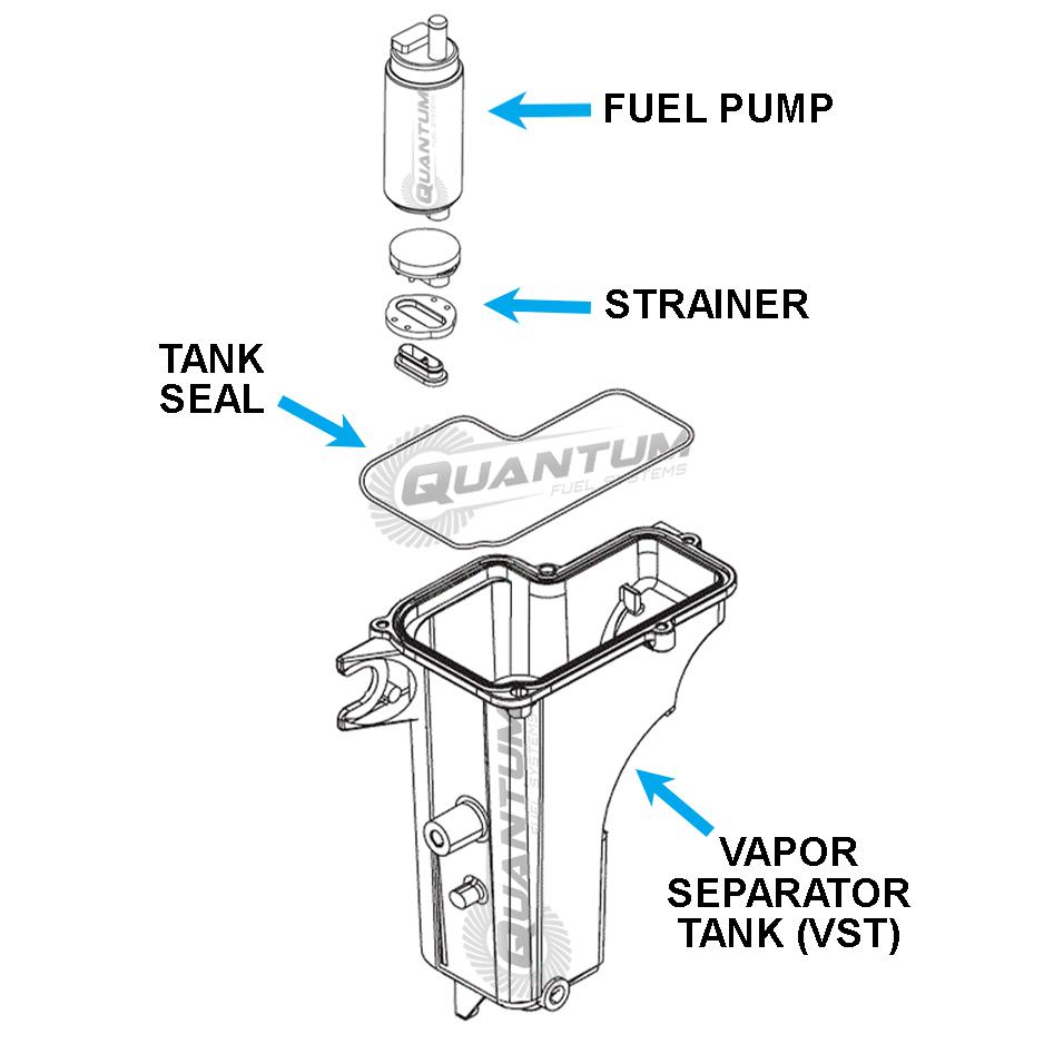 Quantum Mercury Fuel Pump + VST Seal 20-60HP 4-Stroke 02