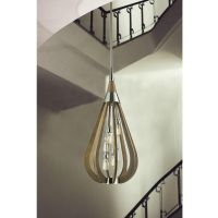 6 Lights Large Timber Wooden Ceiling Lighting Pendant Lamp ...