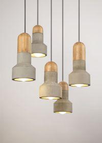 Light Concrete Pendant Ceiling Timber Lamp Lighting ...