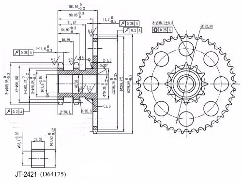 small resolution of d76529 chain drive sprocket for case ih skid steer loader 1845c 1845 1845b 1845s