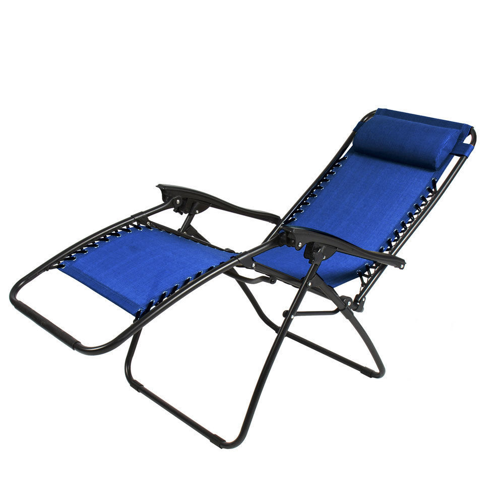 Outdoor Lounge Chair Zero Gravity Folding Recliner Patio