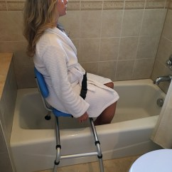 Shower Chair With Swivel Seat High Back Mesh Office Gateway Premium Sliding Bath Transfer Bench Padded