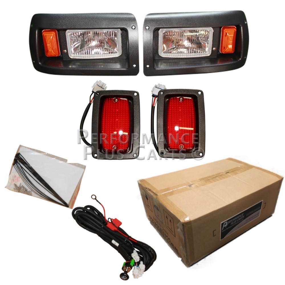 Wiring Diagram For Golf Cart Turn Signals Club Car Golf Cart Headlight And Tail Light Kit With