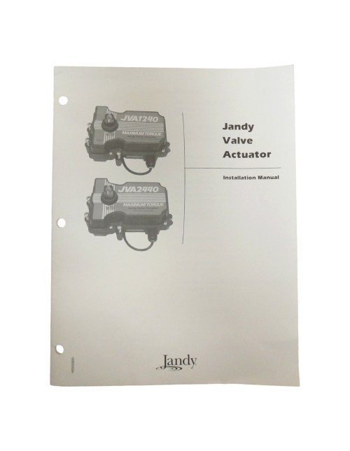 small resolution of jandy jva1240jva2440 valve actuator installation owners manual