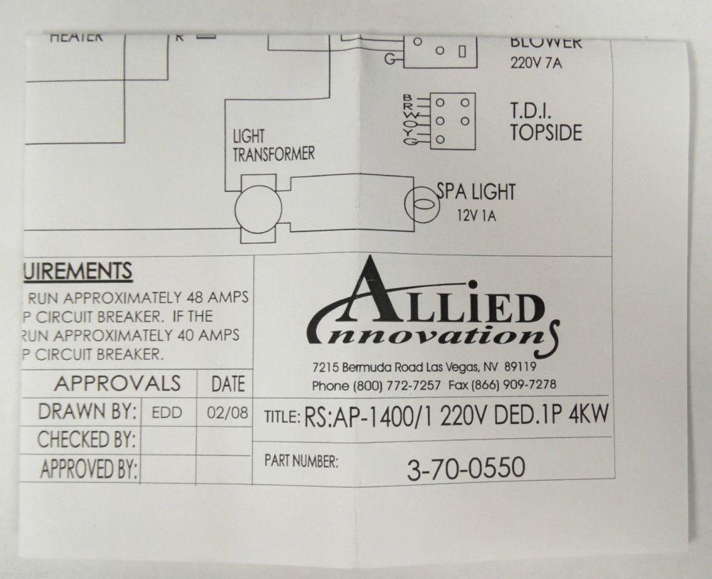 medium resolution of bermuda spa wiring diagram schema wiring diagramsallied innovations 3 70 0550 wiring diagram ap 1400 rs
