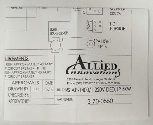 small resolution of bermuda spa wiring diagram schema wiring diagramsallied innovations 3 70 0550 wiring diagram ap 1400 rs