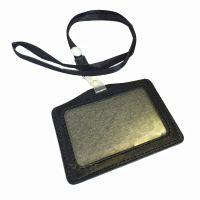 Horizontal ID Badge Card Pocket Holder with Nylon Lanyard ...